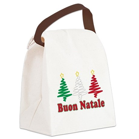 Buon Natale Flag Canvas Lunch Bag
