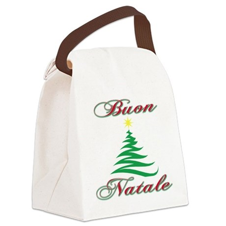 Buon Natale (blk).png Canvas Lunch Bag