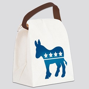 Democrat Donkey Canvas Lunch Bag