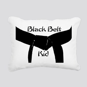 Martial Arts Black Belt Kid Rectangular Canvas Pil