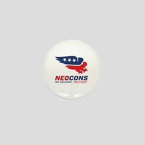 Neocon Chickenhawk Logo Mini Button