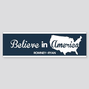 Believe In America Bumper Sticker Blue Sticker (Bu