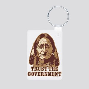 Trust Government Sitting Bull Aluminum Photo Keych