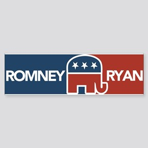 Romney Ryan Republican Elephant Sticker (Bumper)