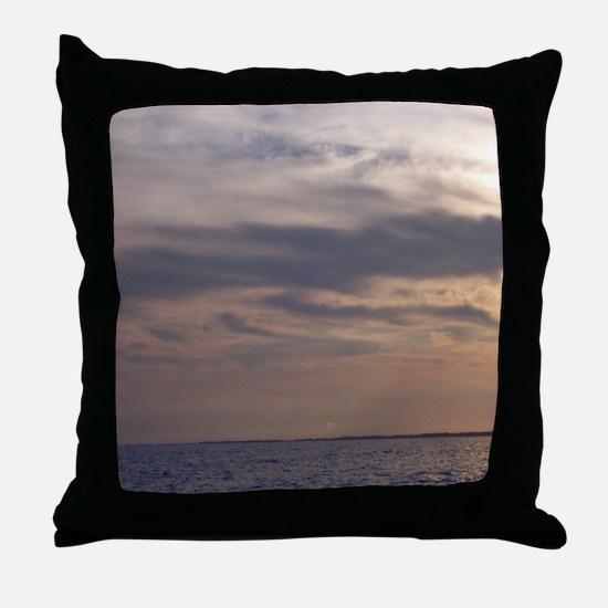 Ocean Sky at Dusk Throw Pillow