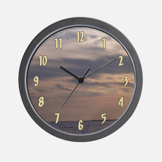 Ocean Sky at Dusk Wall Clock