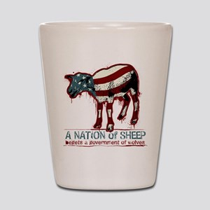 A Nation Of Sheep Shot Glass
