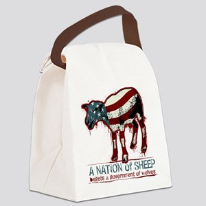 A Nation Of Sheep Canvas Lunch Bag