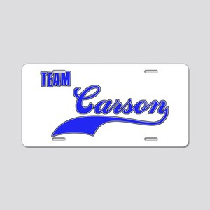 Team Carson Aluminum License Plate