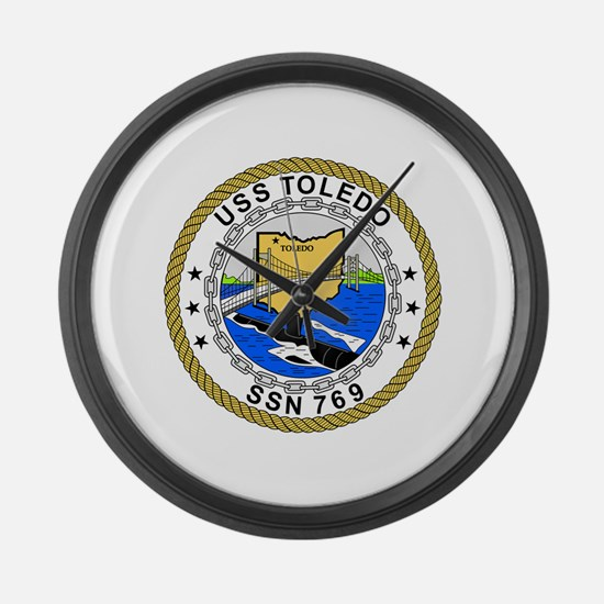 US Navy USS Toledo SSN 769.png Large Wall Clock