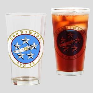 US Navy USS Nimitz CVN 68 Drinking Glass