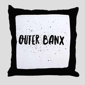 Outer Banx Throw Pillow