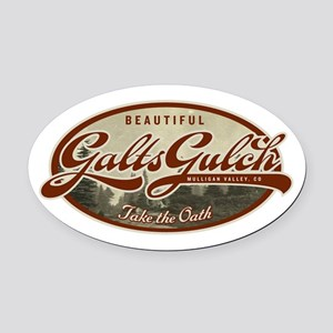 Galts Gulch Oval Car Magnet