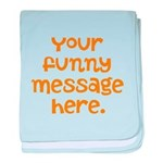four line funny message baby blanket