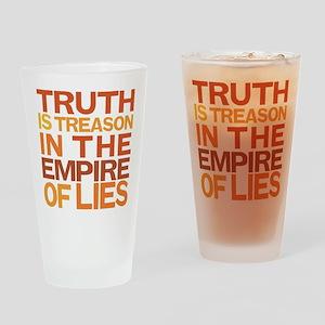 Truth Is Treason Drinking Glass