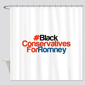 Black Conservatives For Romney Shower Curtain