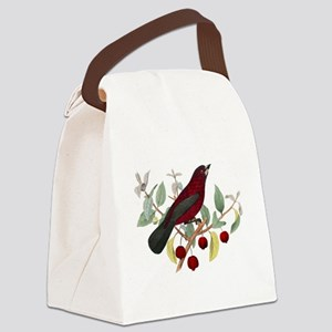 red bird Canvas Lunch Bag