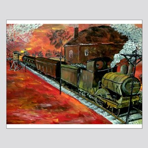 Western Style Train Small Poster