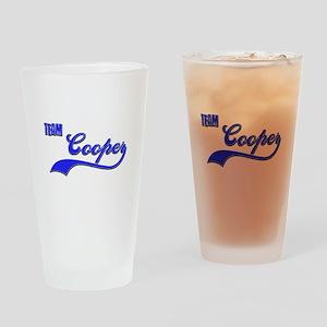 Team Cooper Drinking Glass