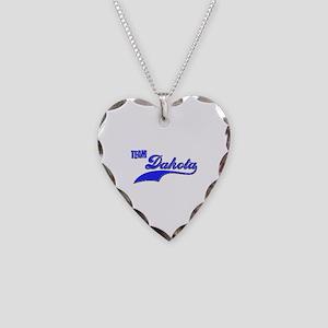 Team Dakota Necklace Heart Charm
