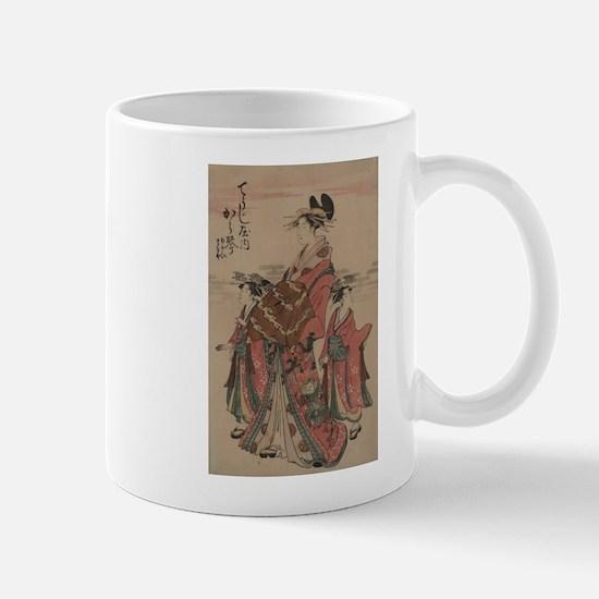 The courtesan Karagoto of Choji-ya - Anon - 1794 M