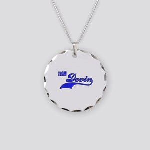Team Devin Necklace Circle Charm