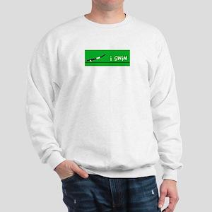 i swim (boy) solid green Sweatshirt