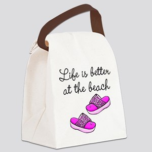 BEACH BABE Canvas Lunch Bag