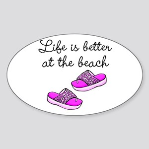 BEACH BABE Sticker (Oval)