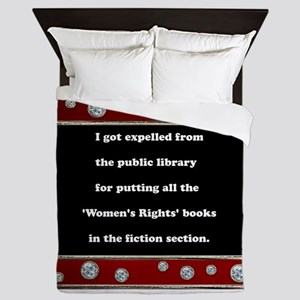 Expelled from the Library Queen Duvet