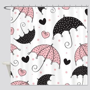 Cute Umbrellas Shower Curtain