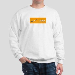 i swim (boy) solid orange Sweatshirt