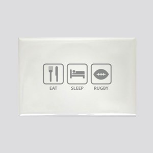 Eat Sleep Rugby Rectangle Magnet
