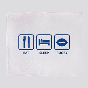 Eat Sleep Rugby Throw Blanket