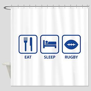 Eat Sleep Rugby Shower Curtain