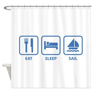 Eat Sleep Sail Shower Curtains