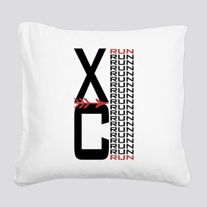 Cross Country XC Run Run Square Canvas Pillow