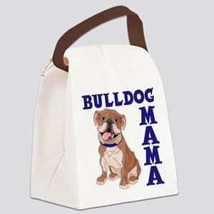 BULLDOG MAMA Canvas Lunch Bag