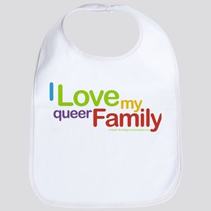 """I Love My Queer Family"" Bib"