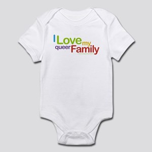 """I Love My Queer Family"" Infant Creeper"