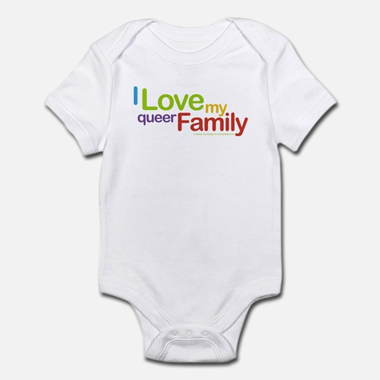 """""""I Love My Queer Family"""" Infant Creeper"""
