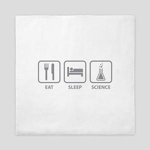 Eat Sleep Science Queen Duvet
