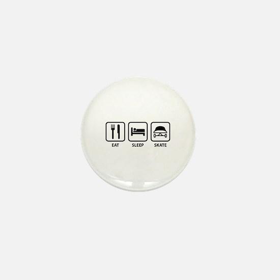 Eat Sleep Skate Mini Button