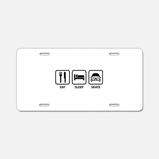 Eat Sleep Skate Aluminum License Plate