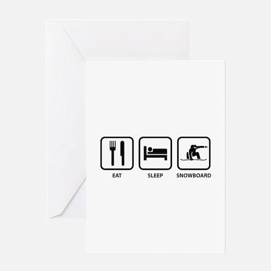 Eat Sleep Snowboard Greeting Card