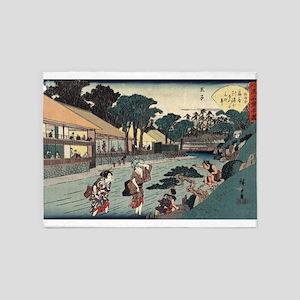 The tea house Ogi-ya at Oji - Hiroshige Ando - 183