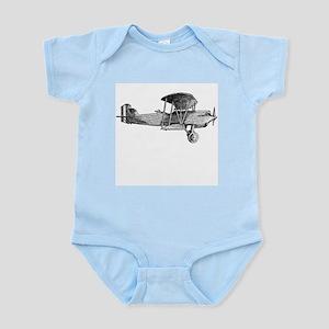 Retro Black and White Plane Infant Creeper
