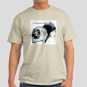 """""""Wanna Play?"""" Ash Grey T-Shirt"""