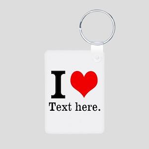 What do you love? Aluminum Photo Keychain