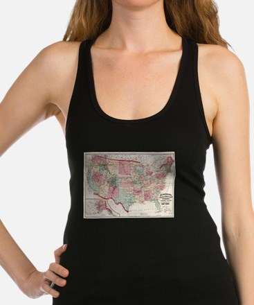 Vintage United States Map (1870) Tank Top